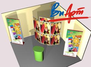 Выставочные стенды 2×3 м² от компании «ВиАрт»