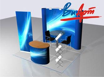 Выставочные стенды 3×3 м² от компании «ВиАрт»
