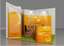 Имиджевое оформление выставочного стенда, пример №1 выставочного оборудования от компании «ВиАрт»