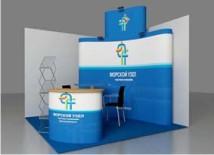 Имиджевое оформление выставочного стенда, пример №3 выставочного оборудования от компании «ВиАрт»