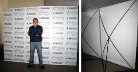Пресс-вол на базе сдвоенных Х-стендов 2×3 м - рекламные конструкции «ВиАрт»