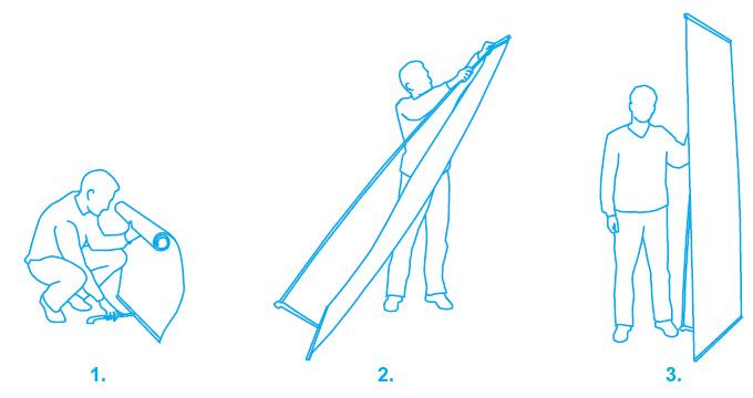 Инструкция по сборке мобильного стенда Expand Banner Stand